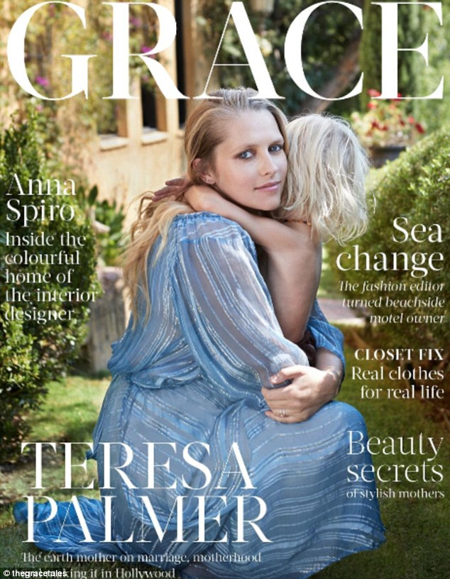 Cover girl! On top of her busy schedule, she also had time to pose for Grace, a new Australian monthly digital publication for mothers that was released on Wednesday